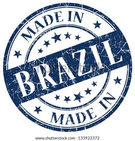 made in brazil stamp - stock photo