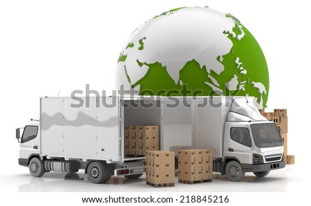 Made in China. Transportation. Manufacturing in Asia. - stock photo