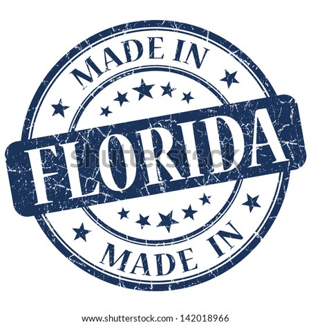 made in florida stamp - stock photo