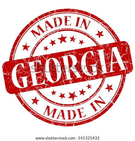 made in georgia stamp - stock photo