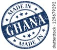 made in Ghana stamp - stock photo