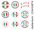 Made in Italy. Set of labels and badges - stock vector