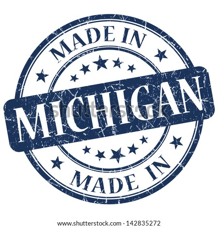 made in michigan stamp stock photos images pictures. Black Bedroom Furniture Sets. Home Design Ideas