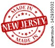 made in new jersey stamp - stock vector