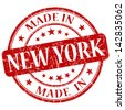made in new york stamp - stock photo