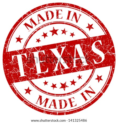 made in texas stamp - stock photo