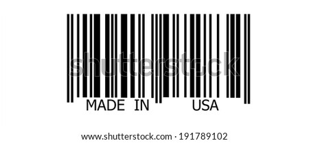 Made in USA on  abstract barcode security pattern background