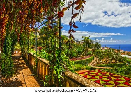 Madeira, Botanical Garden Monte, Funchal, Portugal - stock photo