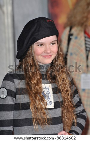 "Madeline Carroll at the world premiere of ""Race to Witch Mountain"" at the El Capitan Theatre, Hollywood. March 11, 2009  Los Angeles, CA Picture: Paul Smith / Featureflash"