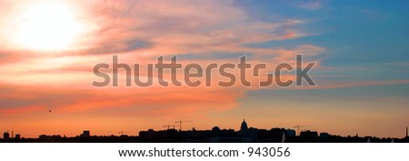 madison sunset - stock photo