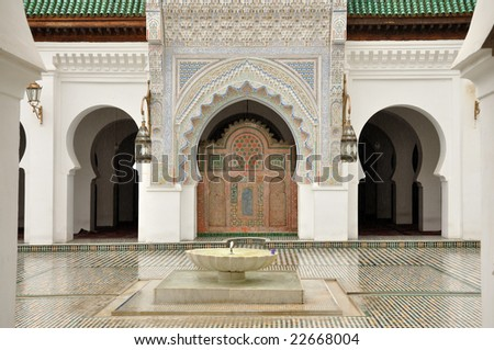 Madrasah in Fes, Morocco - stock photo