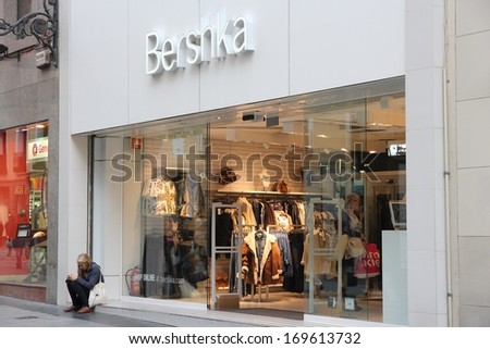 MADRID - OCTOBER 24: People shop at Bershka store on October 24, 2012 in Madrid. Bershka has 910 stores in 64 countries.