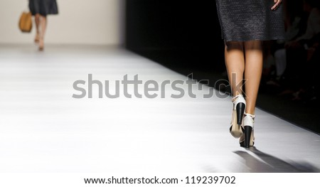 MADRID -Â?Â? SEPTEMBER 02: Details of shoes on the Roberto Torretta catwalk during the Cibeles Madrid Fashion Week runway on September 02, 2012 in Madrid, Spain.