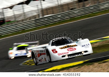 MADRID, SPAIN - APR 1 : British driver Steve Tandy races in a Spice SE90 GTP during the Jarama Classic, on Apr 1, 2016 in Madrid, Spain.