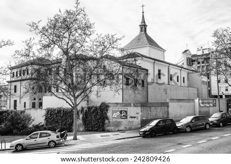 MADRID, SPAIN - MAR 23, 2014: Church of San Francisco El Grande in Madrid, Spain.  It is Spanish Property of Cultural Interest