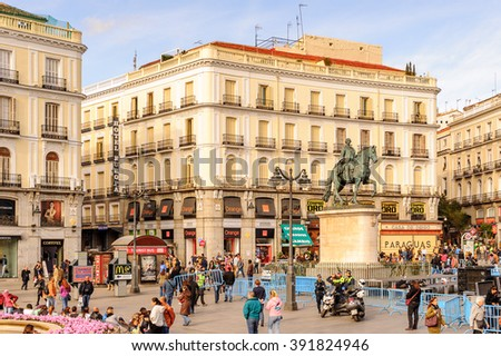 Paris france august 18 2014 opera stock photo 230184637 for Km 0 puerta del sol