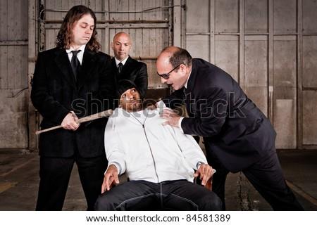 Mafia Interrogation - stock photo