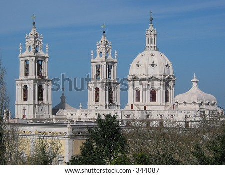 Mafra Monastery - stock photo