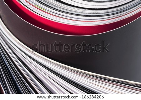 Magazine pages. - stock photo