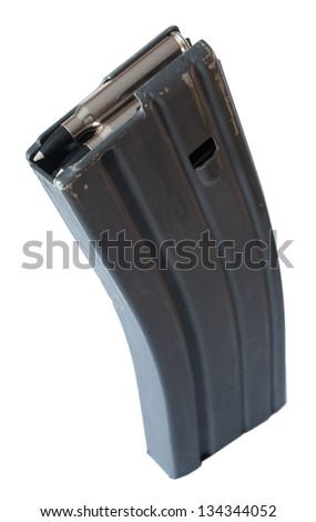 Magazine that is capable of holding thirty cartridges for an AR - stock photo