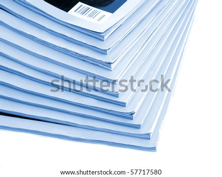 Magazines close-up - stock photo