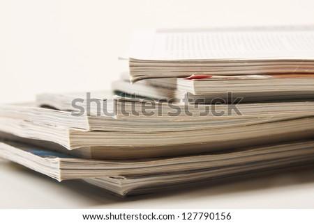 Magazines stack - stock photo