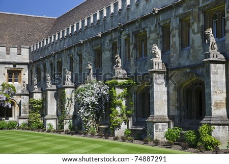 Magdalen College in Oxford - stock photo