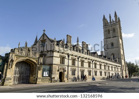 Magdalen College, Oxford - stock photo