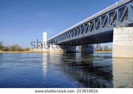 Magdeburg Water Bridge  - stock photo