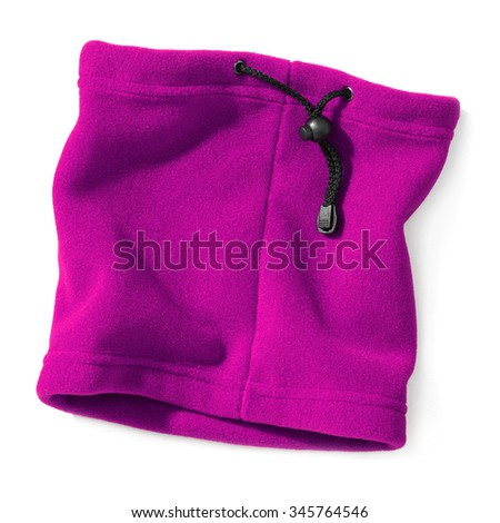 magenta polar neck for woman,isolated