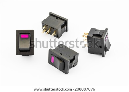 Magenta Rocker Switches with Build-in LED.