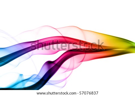 Magic Abstract colored waves over the white background - stock photo