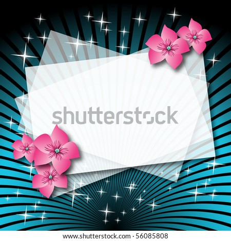 Magic background to insert text or photo. Raster version of vector. - stock photo