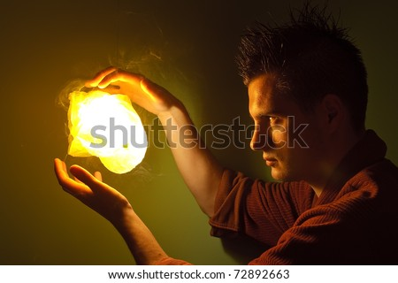 Magic ball - stock photo