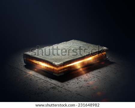 Magic Book with super powers - 3D Artwork - stock photo