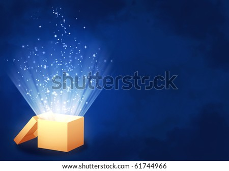 Magic box - stock photo