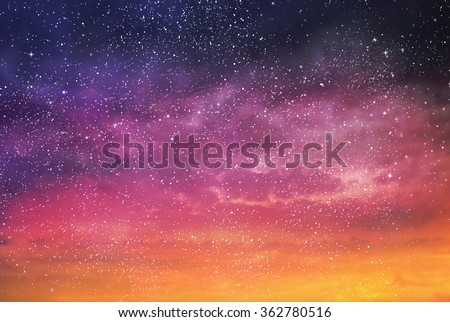 Magic color sky background - stock photo