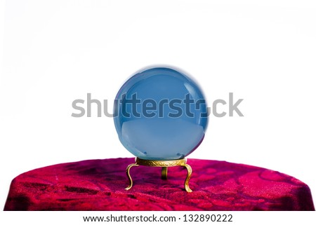Magic crystal ball on white background - stock photo