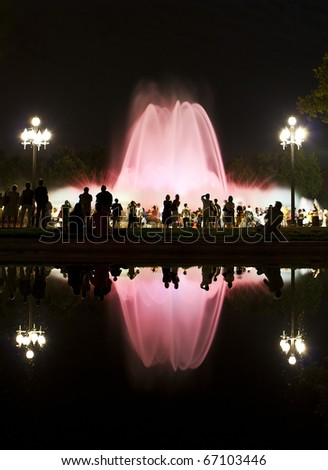 Magic Fountain of Montjuic show in Barcelona