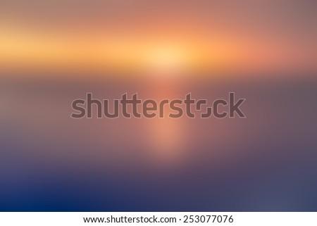 magic golden light blur abstract background - stock photo