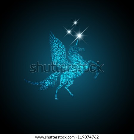 Magic Holiday Pegasus Which Grants Wishes - stock photo