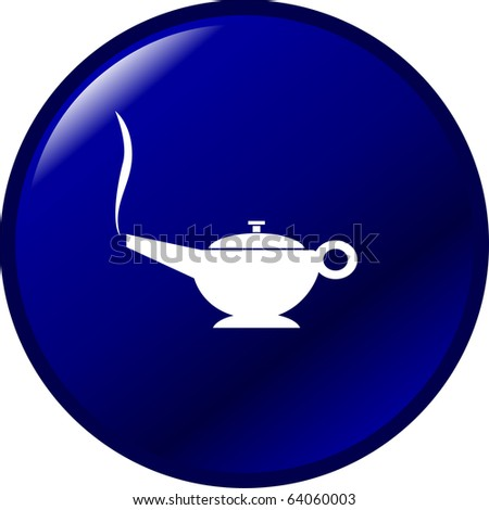 magic lamp button - stock photo