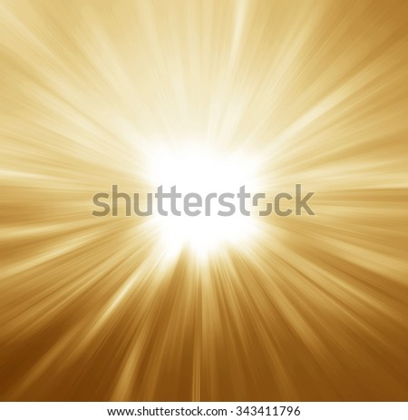 Magic light holiday background. Gold burst. Christmas background - stock photo