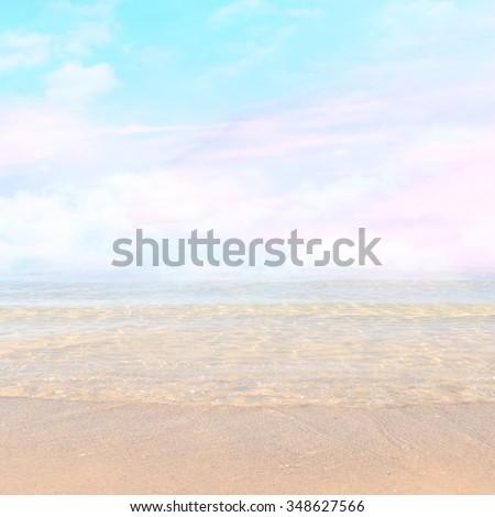 Magic seaside blur background - stock photo