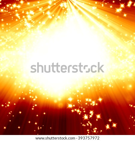 Magical red background - stock photo