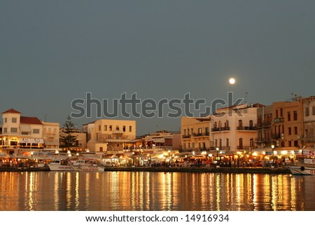 Magical Waterfront Village - stock photo