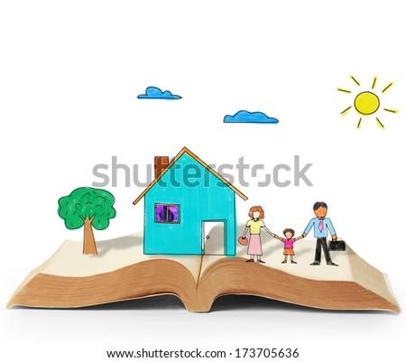 magical world of reading ,magic book  - stock photo