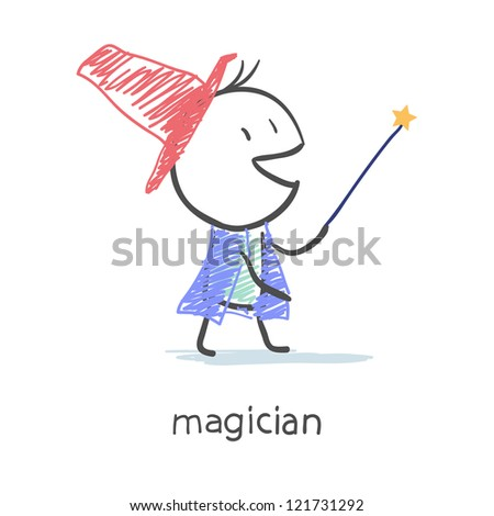 Magician - stock photo