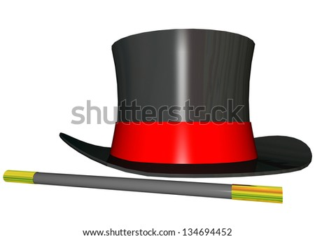 MAGICIAN HAT - 3D - stock photo