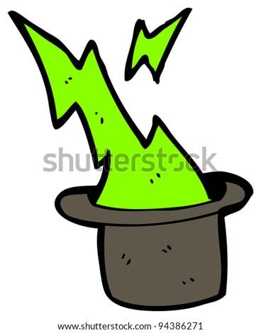 magician's hat cartoon (raster version) - stock photo